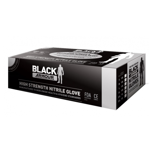 BLACK ARMOUR GLOVE DISP 100PK - SIZE M