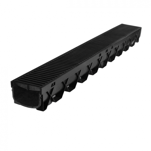 STORMMATE CHANNEL 1m BLACK WITH GRATE R2999